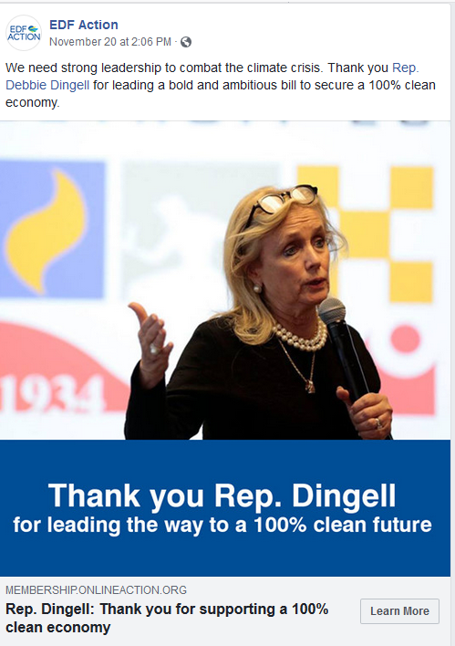 Thank You, Rep. Dingell