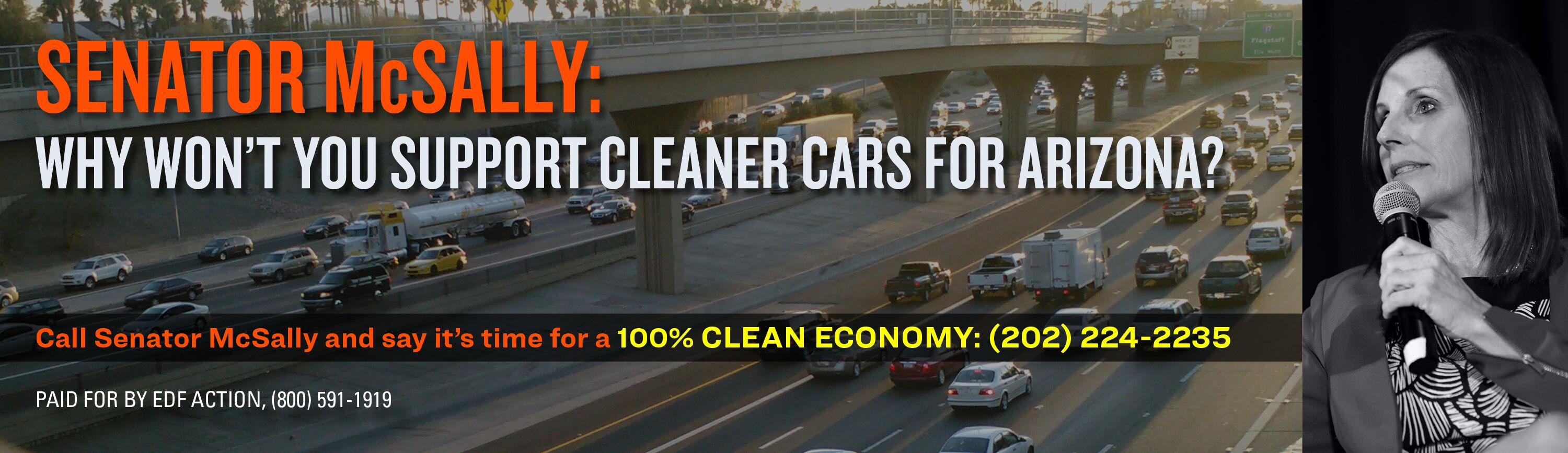 Senator McSally, why won't you support clean cars.