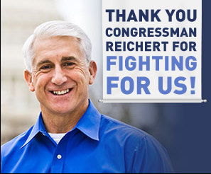 Thank You, Rep. Reichert