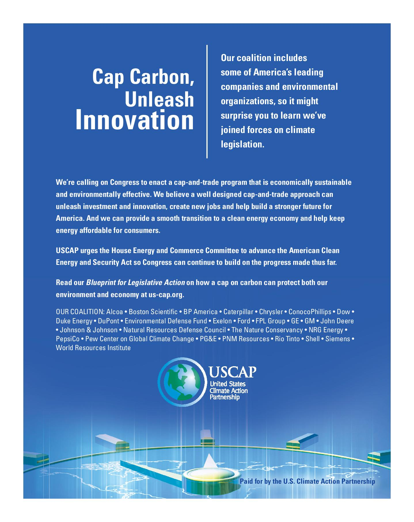 Cap Carbon, Unleash Innovation