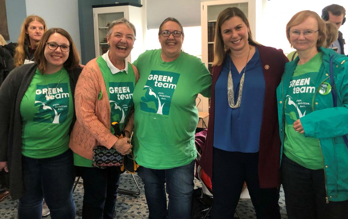 Green Team Michigan volunteers with Congresswoman Elissa Slotkin